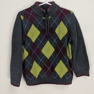 Argyle Janie and Jack zip up pullover